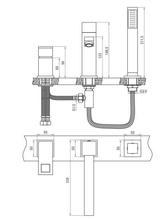 Anemon Baterie de cada cu montaj pe cada cu 3 orificii