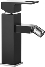 Anemon crom - negru baterie de bideu cu sistem de dop automat