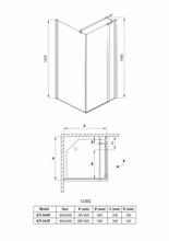 Cabina de dus patrata 80*80cm kti044p Cubic
