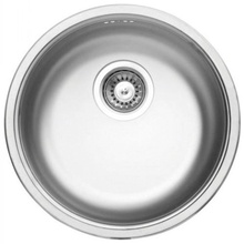 CORNETTO 1-BOWL S/S SINK, ROUND, WITH FITTINGS, DECOR