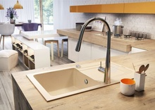 FUNK GRANITE Chiuveta Granit SINKS ONE BOWL WITH FITTINGS SAND