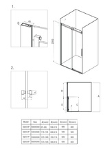 Hiacynt cabina de dus dreptunghiulara cu usa culisanta 8 mm