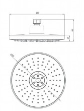 Peonia dispersor fix rotund - anticalcar 200 mm