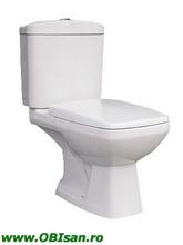 Vas WC monobloc incl. capac,rezervor si armatura dublaactionare, scurgere verticala42x83x73 cm