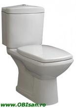 Vas WC monobloc incl. capac,rezervor si armatura dublaactionare, scurgere laterala 42x83x73 cm