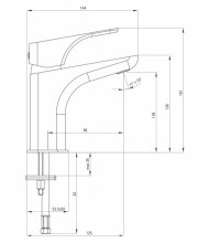 Baterie pentru lavoar finisaj negru (black) seria Hiacynt Nero