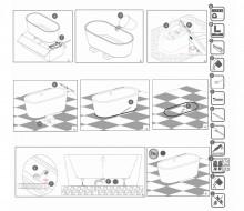 Cada freestanding ovala 150 cm