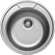 CORNETTO 1-BOWL S/S SINK, ROUND, WITH COLLAR, WITH FITTINGS, SATIN