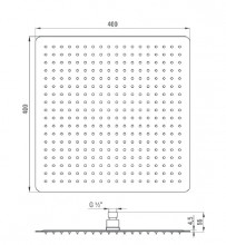 Floks dispersor fix - patrat crom anticalcar 40*40 cm