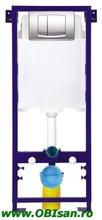 SANOSWIFT Rezervor incastrat, asezat,functie Dual Flush (3/6l) cu picioare+clapeta finisaj alb