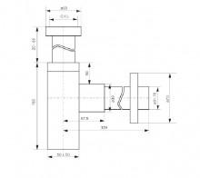 Sifon design pentru lavoar finisaj - crom format patrata