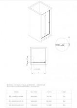 Ușă de nișă pliabilă dublă, finisaj crom din seria Kerria 80 cm KTSX042P