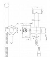 Arnika Titanium baterie de bideu cu montaj incastrat finisaj titanium BQAD34M