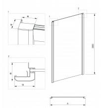 Cabina asimetrica usa culisanta 6 mm din seria Cynia