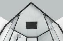 CL74 Cabina de dus completa SKY2 profile negre cu montaj rapid QuickLine