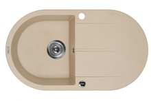 PIVA SINK ONE BOWL WITH DRAINING BOARD WITH FITTING, SANDY GRANITE
