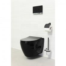 UNO, Vas wc suspendat, cu capac Soft-Close, sistem Rimless, Negru