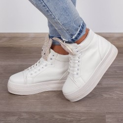 "Ghete Sport ""MireaFashion"" Cod: Y1336 White(U3)"