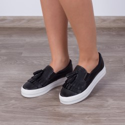 "Espadrile ""MireaFashion"" Cod: H2036 Black (AA-3)"