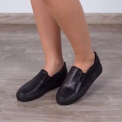 Espadrile ''MireaFashion'' Cod: H2015 Black (AA-3)