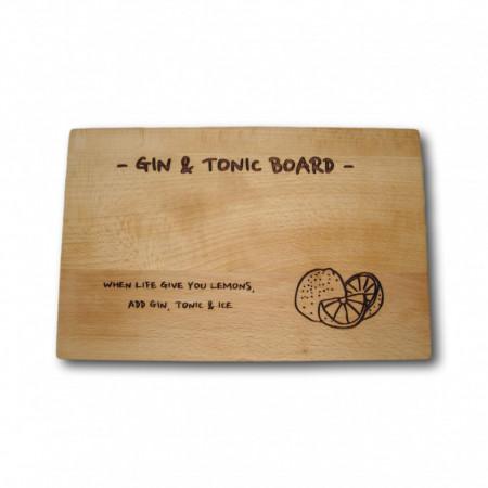 Platou din lemn pentru Gin