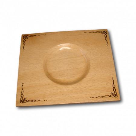 farfurie din lemn