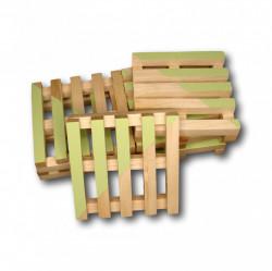 Set suport pahare lemn palet 6 bucati - verde
