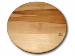 Tocator din lemn rustic rotund