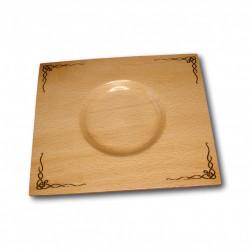 Farfurie decorativa din lemn