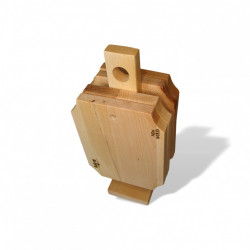Set 4 tocatoare lemn cu suport - colectia Rustic
