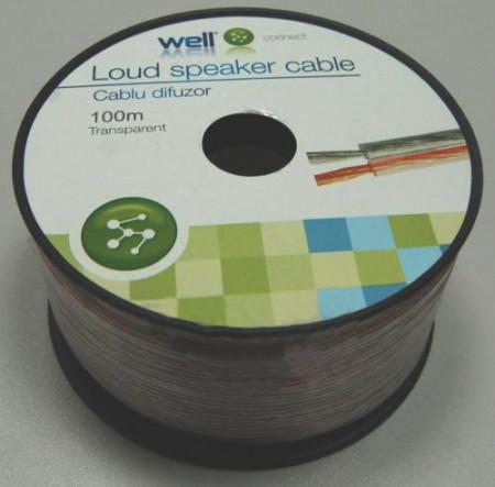 Cablu difuzor Well transparent LSP-CCA0.75TT-100-WL