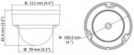 Camera Hikvision IP antivandal 2MP DS-2CD1123G0E-I