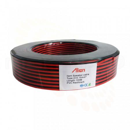 Cablu Alien de alimentare rosu/negru 2x0.75mm MK024-CA075