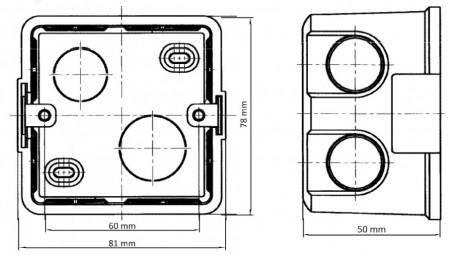 Cutie montaj ingropat pentru posturile de interior DS-KAB86