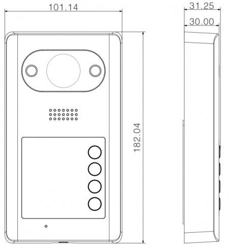 Post exterior de Videointerfon Dahua IP DH-VTO3211D-P4