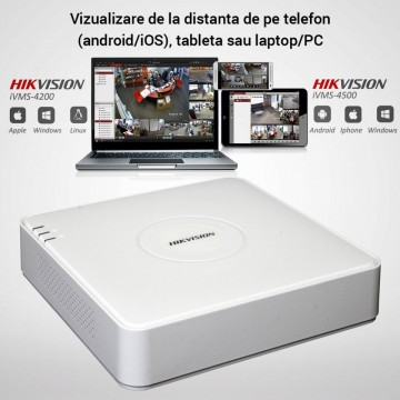 Poze Kit Hikvision CCTV 8 camere dome/bullet TurboHD 2.0MP MK064-KIT14