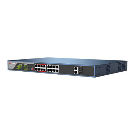 Switch Hikvision 16 porturi PoE si doua porturi SFP uplink DS-3E1318P-E