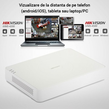Poze Kit Hikvision CCTV 16 camere dome/bullet TurboHD 2.0MP MK067-KIT17