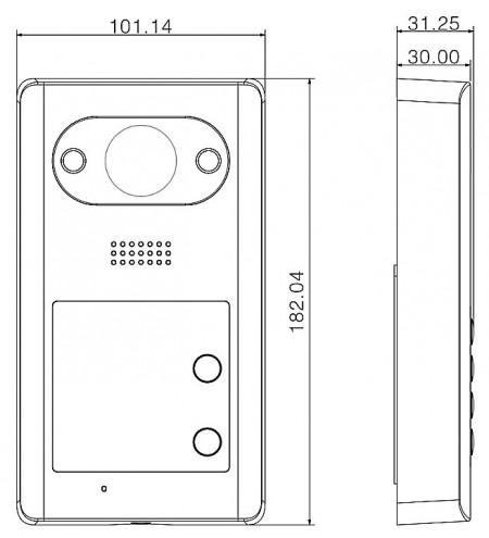 Post exterior de Videointerfon Dahua IP DH-VTO3211D-P2