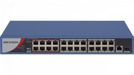 Switch 24 porturi PoE Hikvision carcasa din metal DS-3E0326P-E/M