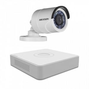 Sistem supraveghere exterior Hikvision 1 camera 1.3MP MK076-KIT25