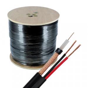 Cablu coaxial cu alimentare RG59 TSY-RG59+2X0.75-B