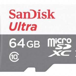 Card MicroSD SanDisk 64GB SDSQUNS-064G-GN3MN