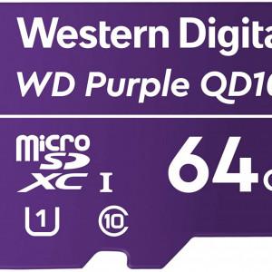 Card microSD Western Digital Purple 64GB WDD064G1P0C