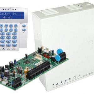 Centrala Paradox Spectra cu 5 zone cutie si tastatura SP5500(CT)+K32LX