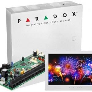 Centrala Paradox Spectra cu 8 zone cutie si tastatura 7inch SP6000(CT)+TM70(L)