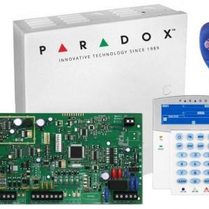 Kit Centrala Magellan Paradox 5 intrari pe placa cutie tastatura si telecomanda MG5050(CT)+K35+REM1