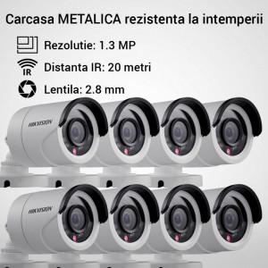 Kit Hikvision CCTV 8 camere bullet TurboHD 1.3MP MK056-KIT06