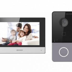 Kit Videointerfon IP HikVision pentru o familie cu Wi-Fi DS-KIS603-P