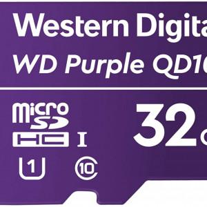 Card microSD Western Digital Purple 32GB WDD032G1P0C